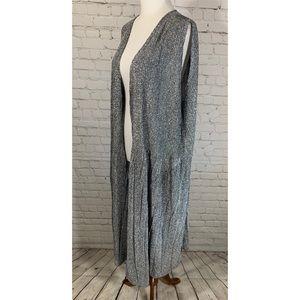 LuLaRoe Silver Metallic Duster Kimono Size XL